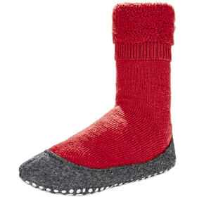 Falke Cosyshoes SO - Chaussons Enfant - gris/rouge